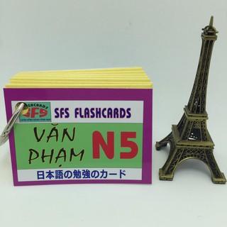 [ FREE SHIP ] [Sỉ 25k] Bộ thẻ tiếng nhật văn phạm N5_khobuon thumbnail