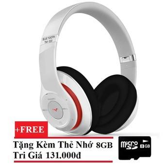 Tai nghe Bluetooth chụp tai TM010S (Trắng) + Tặng thẻ nhớ 8GB