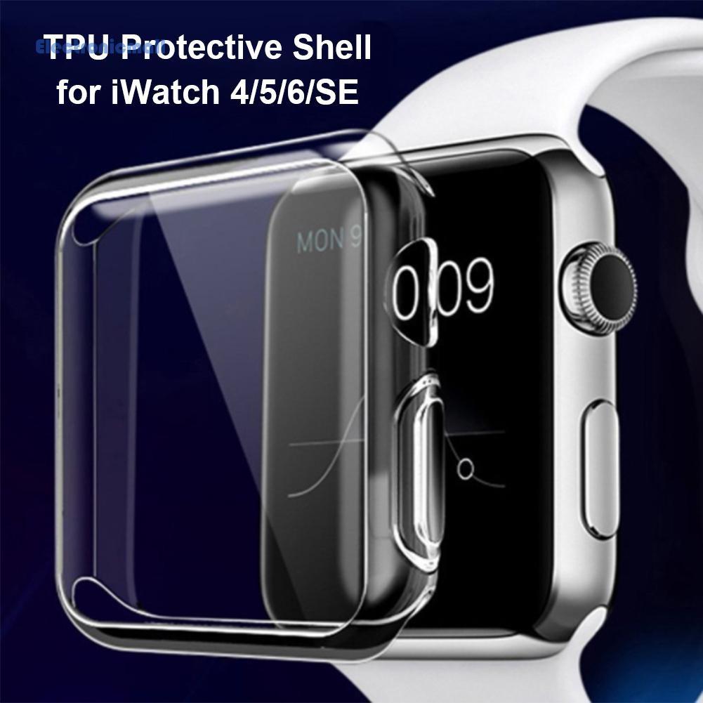 Set 3 Ốp Tpu Trong Suốt Bảo Vệ Màn Hình Cho Đồng Hồ Thông Minh Apple Watch Series 6 5 4 Se Series01