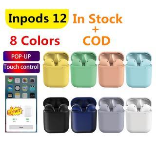inpods 12 Tai nghe inpods kết nối Bluetooth 5.0 i12 TWS mini tích hợp micro