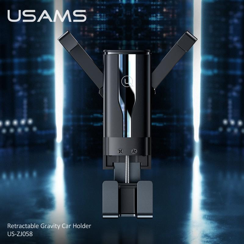 Giá Đỡ Trọng Lực USAMS US-ZJ058 Gắn Xe Hơi Có Thể Thu Gọn Dành Cho iPhone OPPO Samsung Huawei VIVO Xiaomi