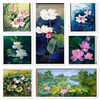 Khung dày 2.5cm Tổng hợp các mẫu tranh số hóa tự vẽ Hoa bán chạy nhất