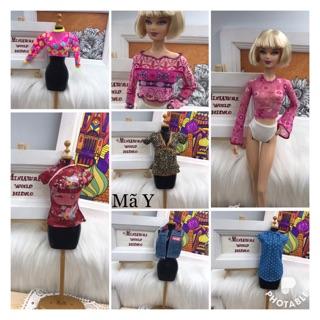 Áo búp bê Barbie. Hoặc búp bê Size 30cm. Mã áo Y