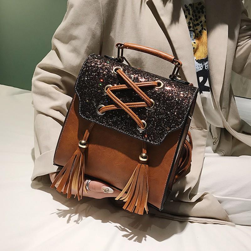 Fringed small shoulder bag female 2019 new Korean version of