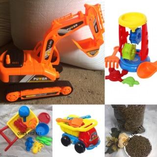 DEAL SỐC Combo 4 bộ đồ chơi xúc cát kèm hạt muồng