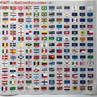 Cờ Các Nước; Có 350 lá cờ nhỏ của tất cả các quốc gia trên thế giới; hai loại kích thước-SP000080