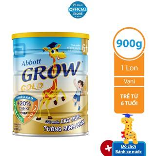 [Tặng bánh xe nước] Sữa bột Abbott Grow 6 900g