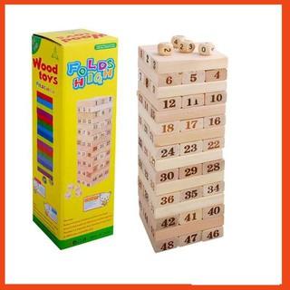 [HOT SALE] Bộ Đồ Chơi Rút Gỗ 48 Thanh – Domino gỗ