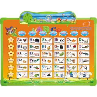 Bảng học chữ cái thiết kế chế độ tiếng anh và tiếng việt tiện lợi cho bé