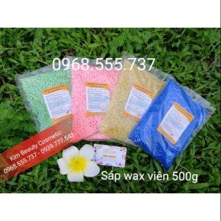 (Free que gỗ) Sáp wax nóng viên Hard wax beans 500g