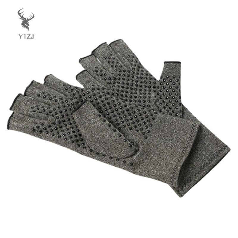 COD& Fingerless Non-Slip Gloves Elastic Fabric Durable Breathable Absorption Soft Lightweight Protect Hand for Bike Travel &VN