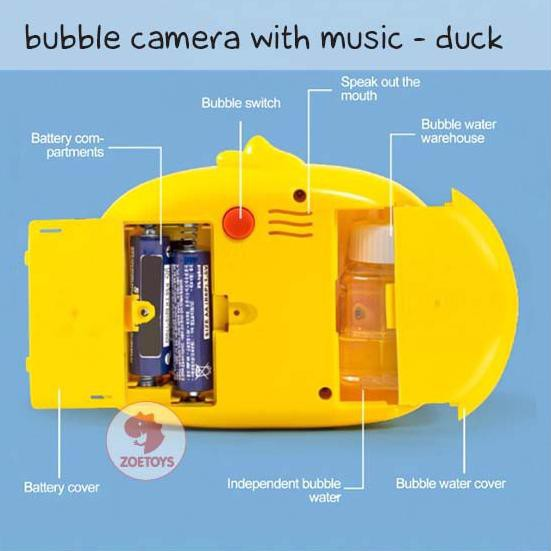✴➲ Đồ chơi máy ảnh có nhạc hình chú vịt dễ thương | Đồ chơi máy thổi bong bóng hình máy ảnh có nhạc ★★ Li Li Li Li Li