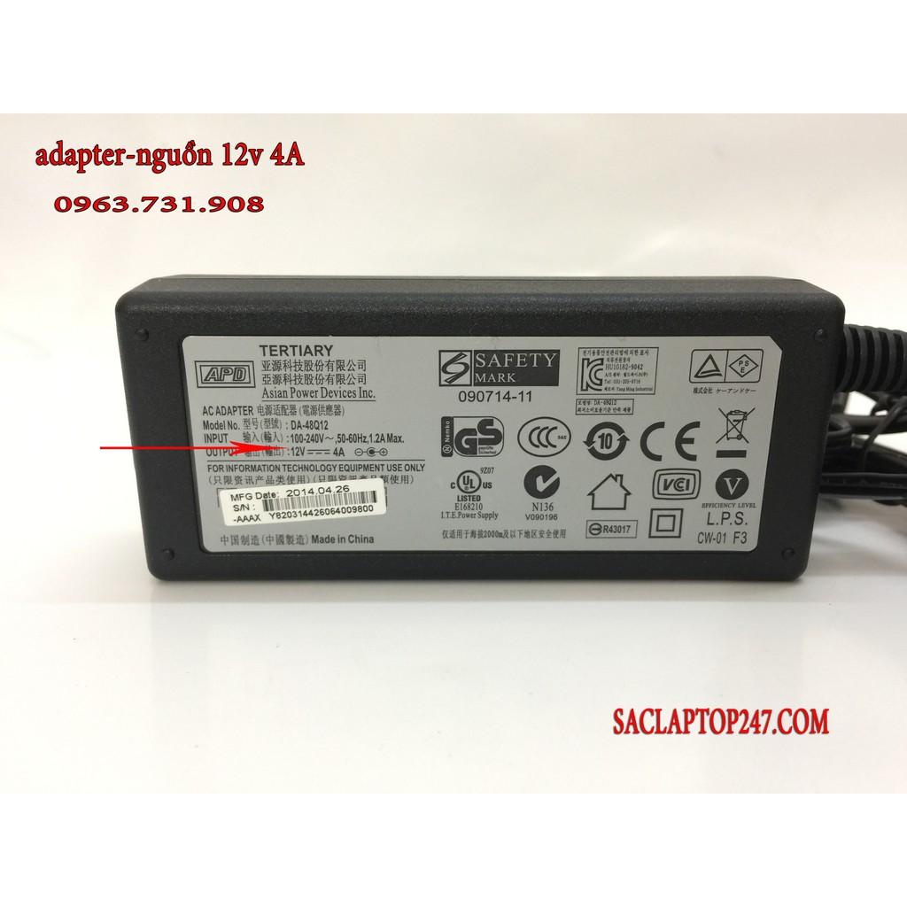 Adapter nguồn 12v 4a 48W chân 5.5 * 2.5