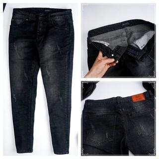 Quần jean nam VERATINO vải cao cấp không phai giữ phom, quần dáng côn co giãn nhẹ [VNXK]
