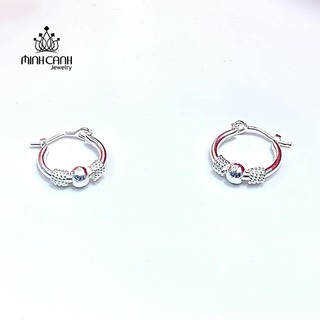 Hoa Tai Bạc Dạng Tròn Cho Bé - Minh Canh Jewelry