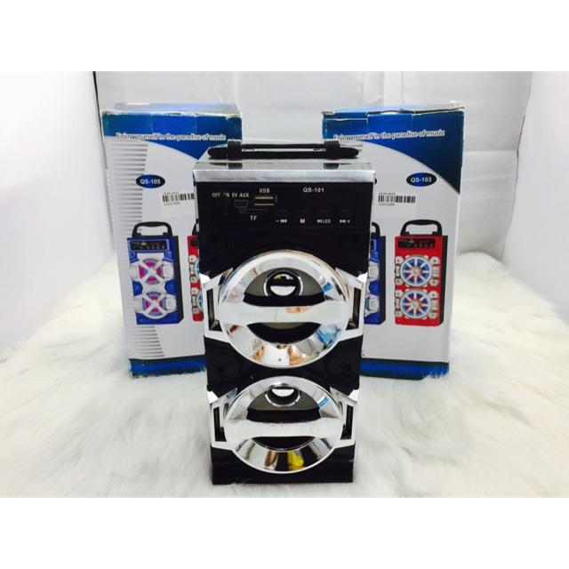 [SALE 10%] Loa bluetooth đọc usb, thẻ nhớ QS-101, QS-102, QS-105 có 2 loa, đèn led không kèm pin 5C