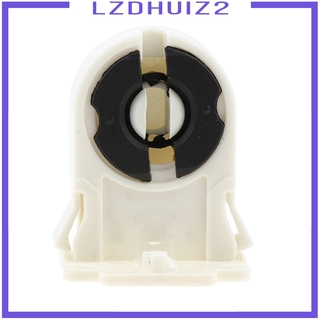 Les Fleurs Plastic Fluorescent Light Socket Bulb Holder for T8 LED Bracket Lamp AC 100-250V