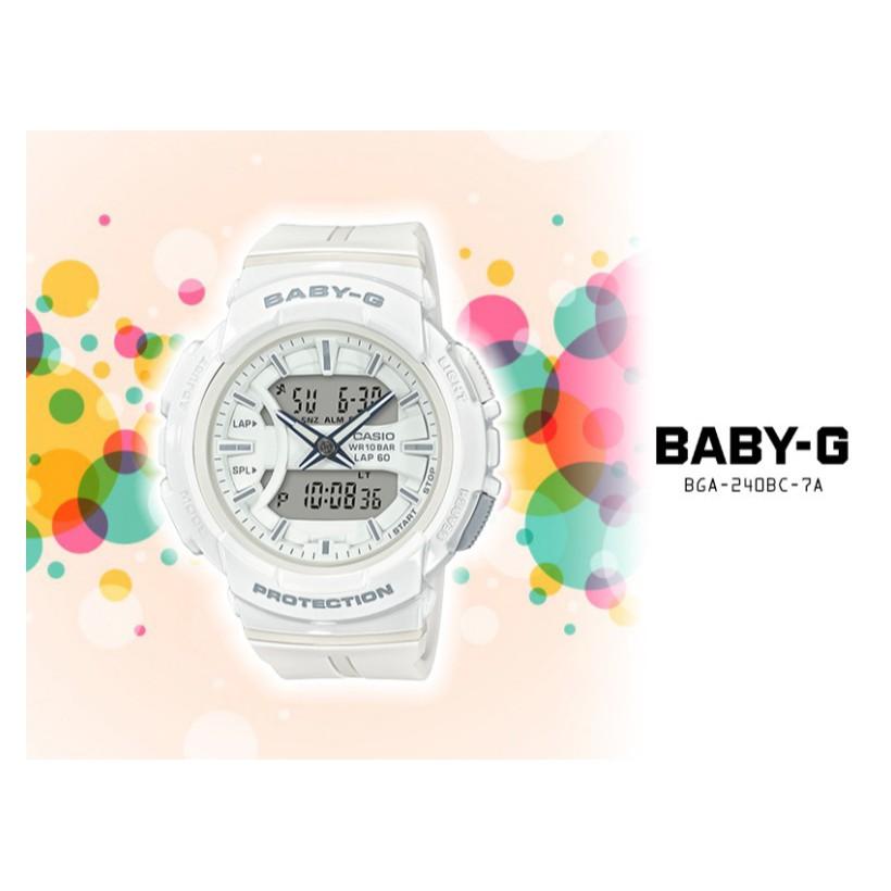 Đồng Hồ Casio Nữ BABY-G BGA-240BC-7A Dây Cao Su Chính Hãng