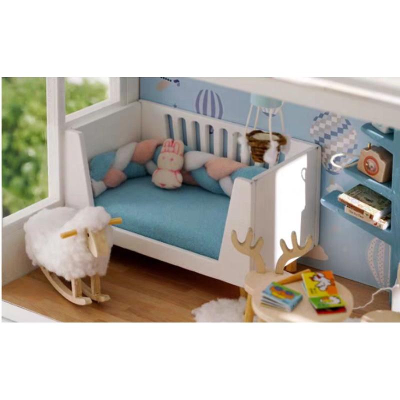 Kèm Mica, nhạc và keo dán - Mô hình nhà gỗ búp bê Dollhouse DIY - A077 So Well