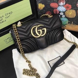 Túi xách nữ da mềm G.C. size 22cm dây da pha xích hàng nguyên tag kèm ảnh thật.