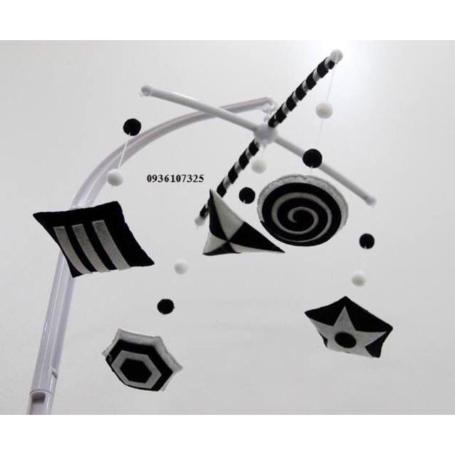 [Mã TOYFSS4 giảm 15k] Treo nôi đen trắng handmade kích thích thị giác