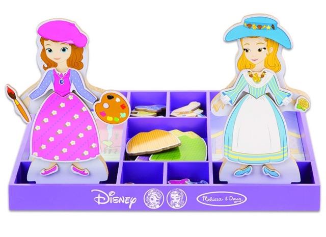 Melissa & Doug Disney Sofia đầu tiên và công chúa hổ phách từ Dress-Up búp bê bằng gỗ giả vờ...