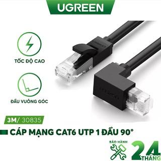 Cáp mạng bấm sẵn 2 đầu Cat6 UTP 1 đầu 90° UGREEN NW115