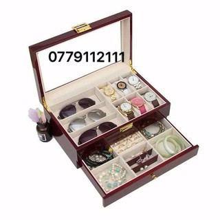 hộp gỗ đựng đồng hồ, kính mắt, trang sức