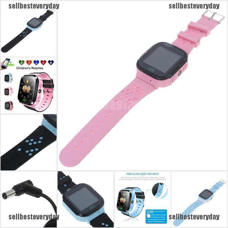 Children watch GPS tracker Step counter SIM SOS Smartwatch Water tightness jelly