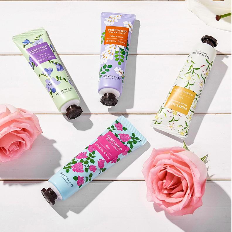 Combo 3 tuýp kem dưỡng da tay mềm mịn Maycreate Perfumed Hand Essence 30G Sena Beauty