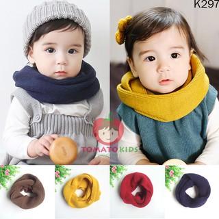 Khăn ống len phong cách hàn quốc cho bé ( quấn 2 vòng)