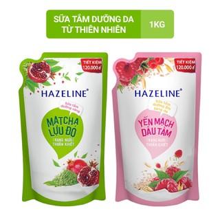 Sữa Tắm Dưỡng Thể Sáng Da Hazeline Matcha Lựu Đỏ Yến Mạch Dâu Túi 1kg thumbnail