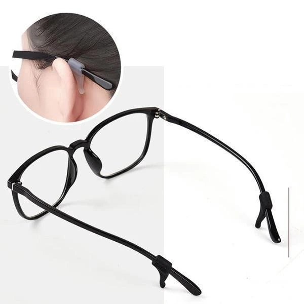 3 Pairs Anti-Slip Comfort Glasses Retainers Newly Eyeglass Temple Tips Sleeve Retainer Silicone Anti-slip Holder Elastic Comfort Glasses