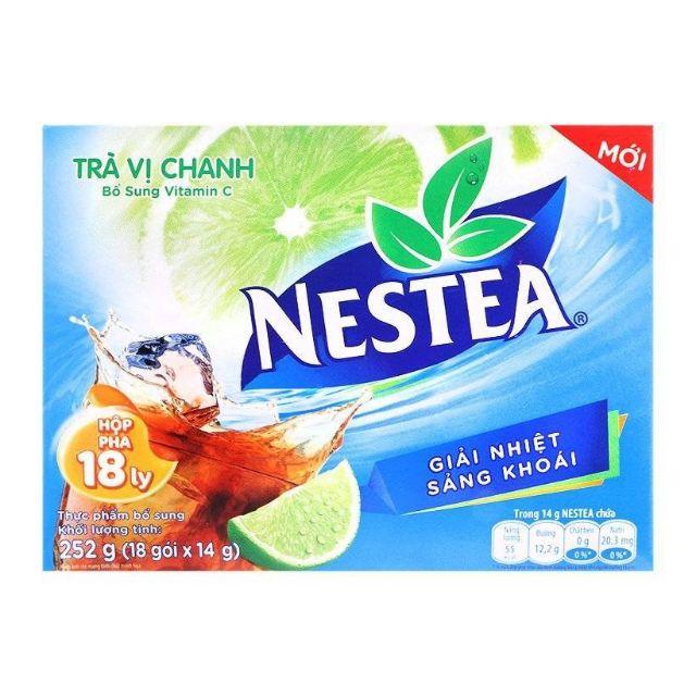 Trà Nestea vị chanh hộp 18 gói x 14g