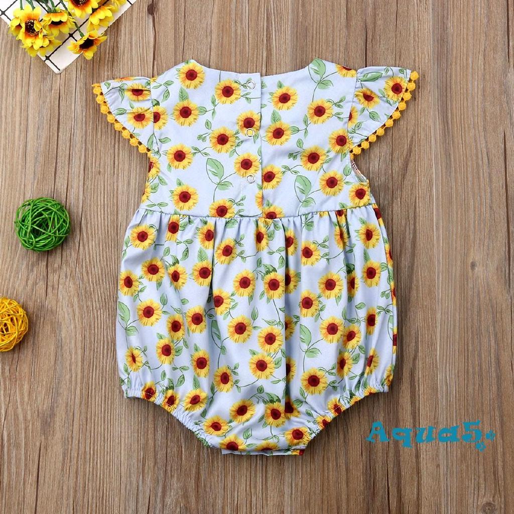 Bộ bodysuit một mảnh hình hoa dễ thương cho bé sơ sinh