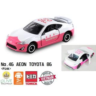 TOMICA – No.46 AEON TOYOTA 86 màu trắng hồng mở cửa 2 bên