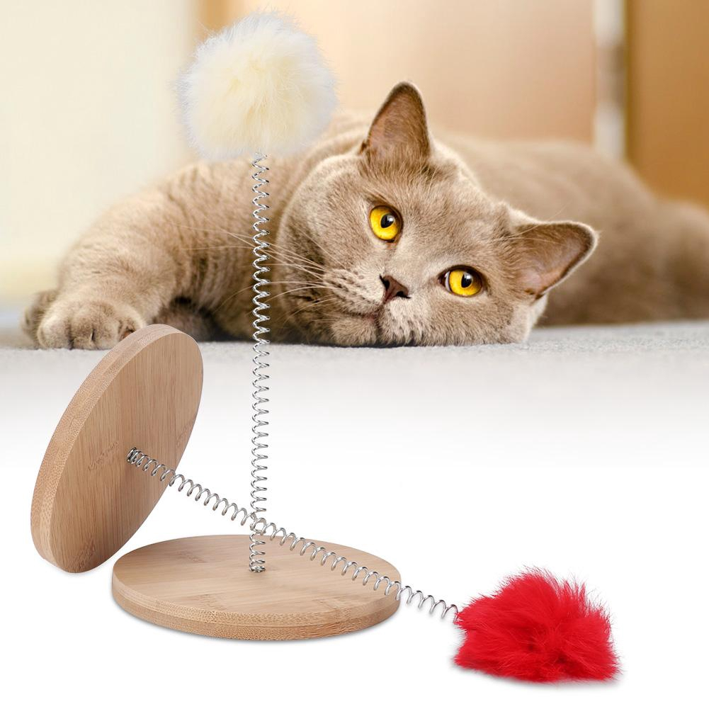 2PCS Wand Ball Cat Spring Ball Cat Punch Ball Toy With Base Super Suction Cat Ball