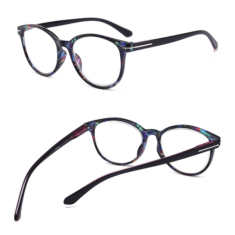 🎉ONLY🎉 Vintage Women & Men Anti Glare Ultra-clear Vision Round Floral Frame Reading Glasses