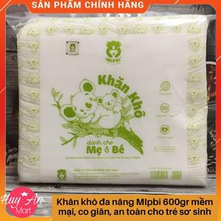[freeship TỪ 50k] Khăn giấy khô Mipbi 600gr mềm mại, co giãn, an toàn cho bé,làm từ vải không dệt