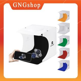 [Rẻ Vô Địch] [TẶNG 6 tấm phông màu] Hộp Chụp Hình Ảnh sản phẩm PULUZ – 22x23x24cm – 2 BẢNG ĐÈN LED – GNGshop