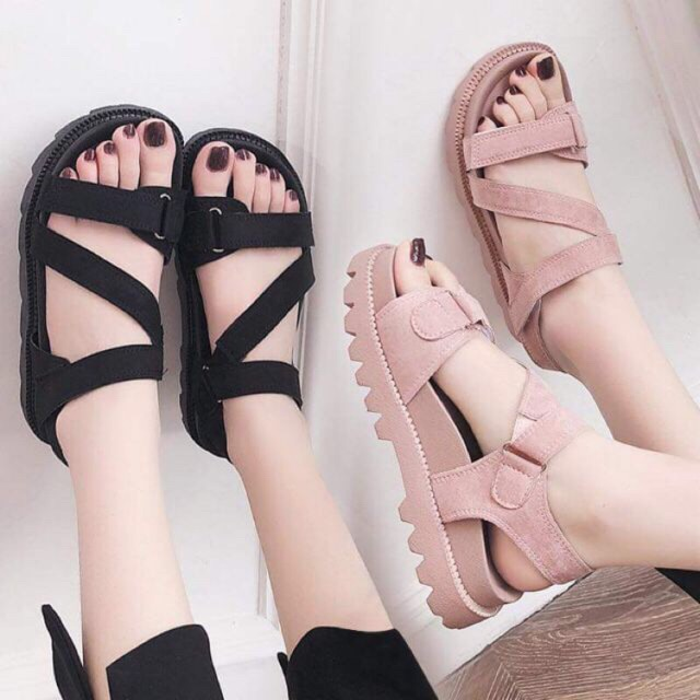 XẢ KHO Giày sandal chiến binh dây chéo