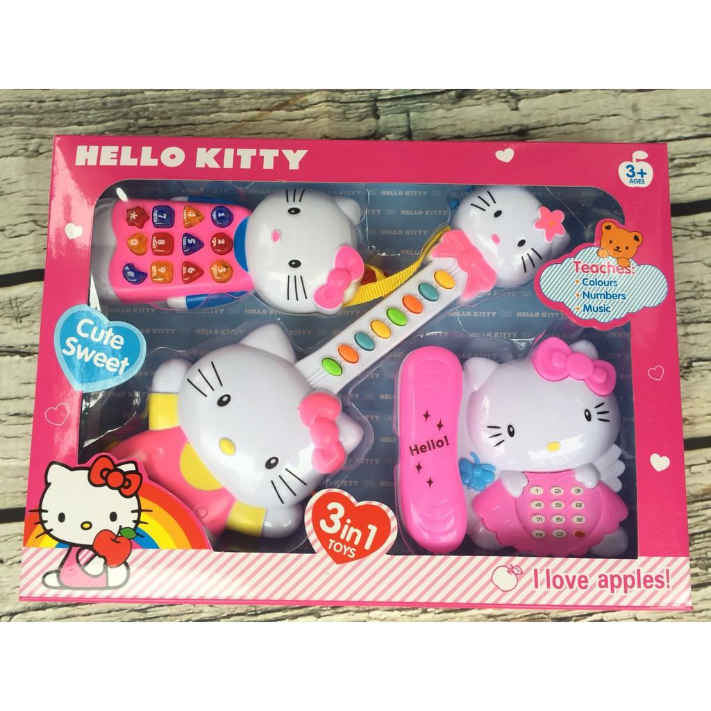 Đồ chơi đàn kiểu mèo Hello Kitty sử dụng pin