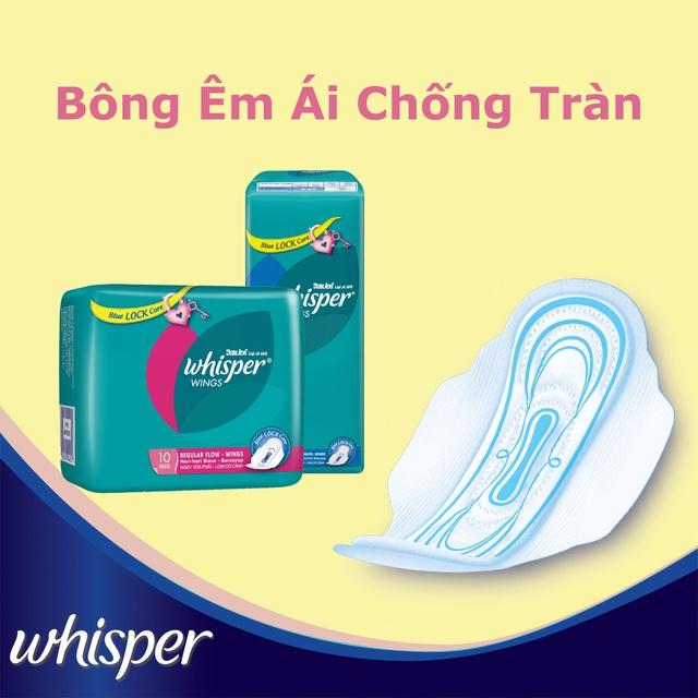 Băng vệ sinh Whisper có cánh đêm 8 miếng