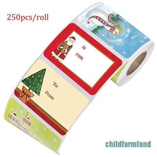 Set 250 Thẻ Giấy Kraft Trang Trí Hộp Quà Giáng Sinh