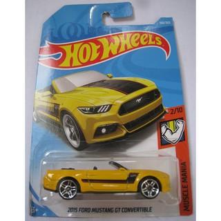 Xe mô hình Hot Wheels '15 Ford Mustang GT Convertible FJX74