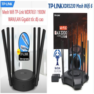Yêu ThíchBộ Phát Wifi Mesh Wifi 6 Gigabit Tplink TP-Link XDR3230 AX3200 , WDR7651 AC1900