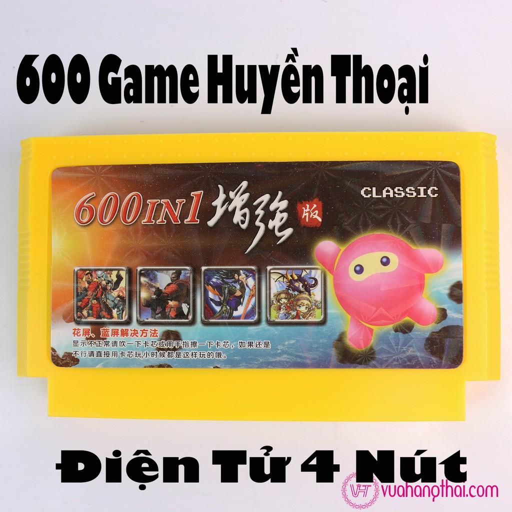 Băng máy chơi game 4 nút 600 Game không trùng – game huyền thoại Contra, Super Mario, Natra cứu mẹ ,xe zeep, Xe Tăng