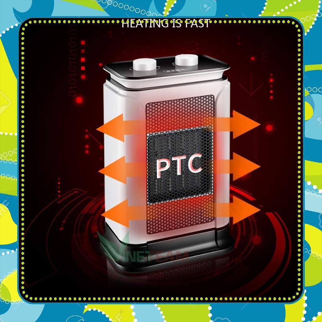 [ẢNH THẬT]  Máy Sưởi Nhiệt PTC 2 Chế Độ Nhiệt 750w-1500w Nhỏ Gọn AN Toàn Tiết Kiệm Điện Năng