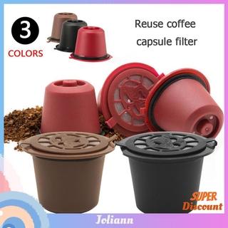 joliann1. Reusable Refill Coffee Capsule Filter Shell for Nespresso Coffee Machine