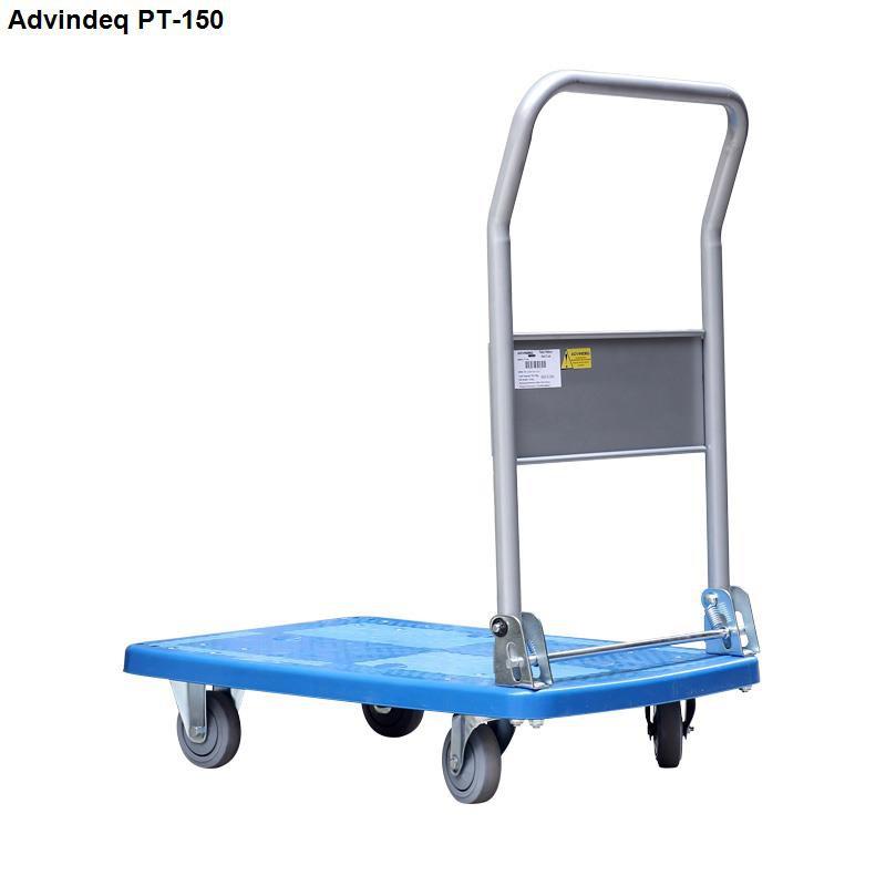 Xe đẩy hàng 4 bánh sàn nhựa ADVINDEQ PT-150 ( tay gấp gọn,tải trọng chở hàng 170kg)
